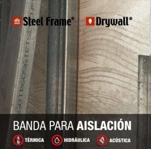 Banda aislante para Steel Framing y Construcción en Seco, por Barbieri