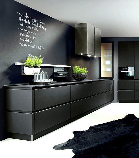 combinado con negro y otros colores de baja saturacin como los acelestados y amarronados componen un nuevo estilo de cocinas mucho ms