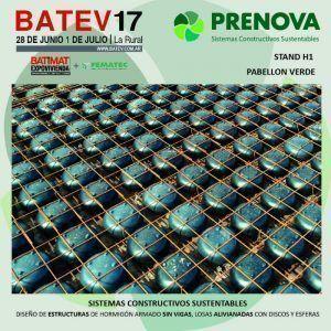 Sistemas constructivos sustentables PRENOVA en BATEV17