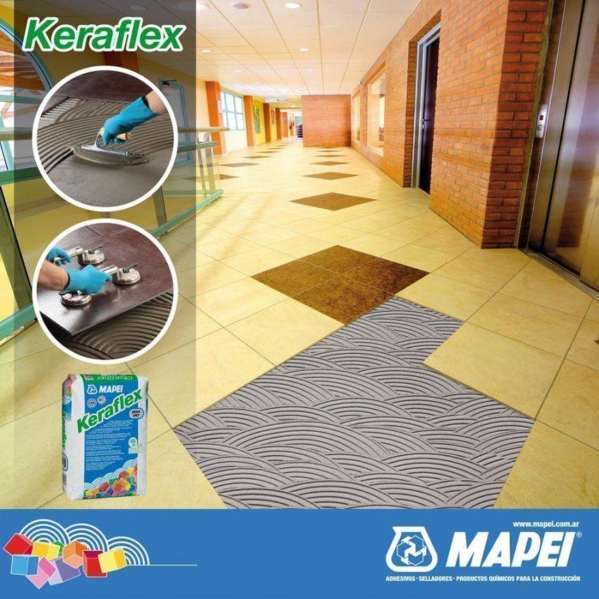 Keraflex de Mapei es un adhesivo cementicio de altas prestaciones y mediana deformabilidad