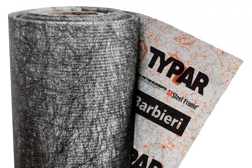 Ventajas de Typar para un sistema de barreras de agua y viento, de AD Barbieri