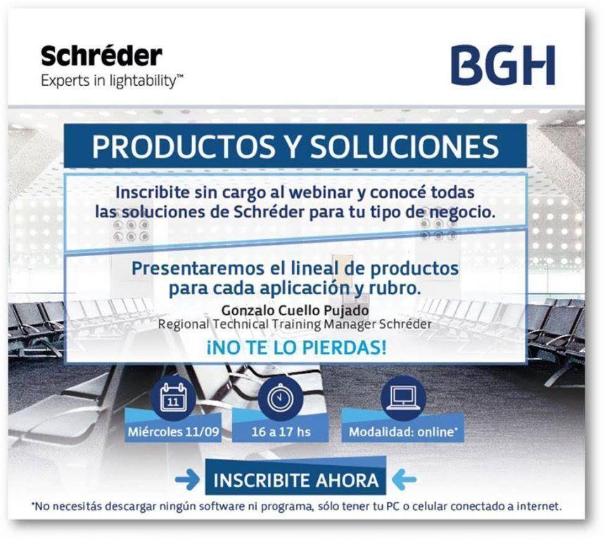 Productos y soluciones, por BGH