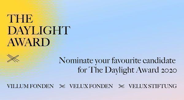 Abiertas las nominaciones a Daylight Award 2020, por VELUX