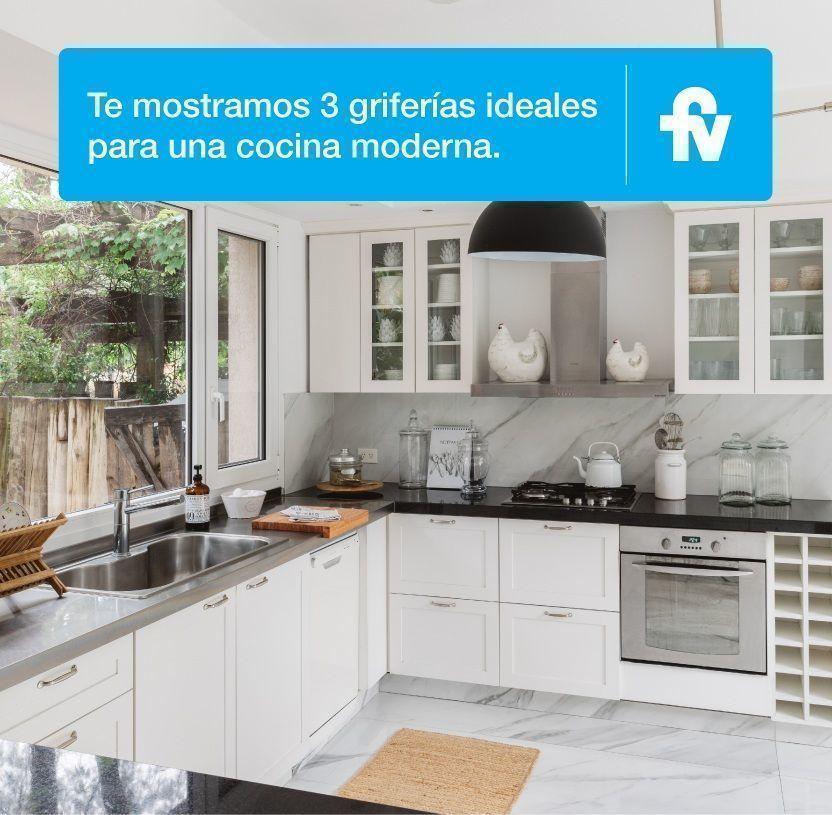 Ideas de griferías para una cocina moderna