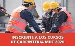 Inscribite a los cursos de carpintería MDT 2020