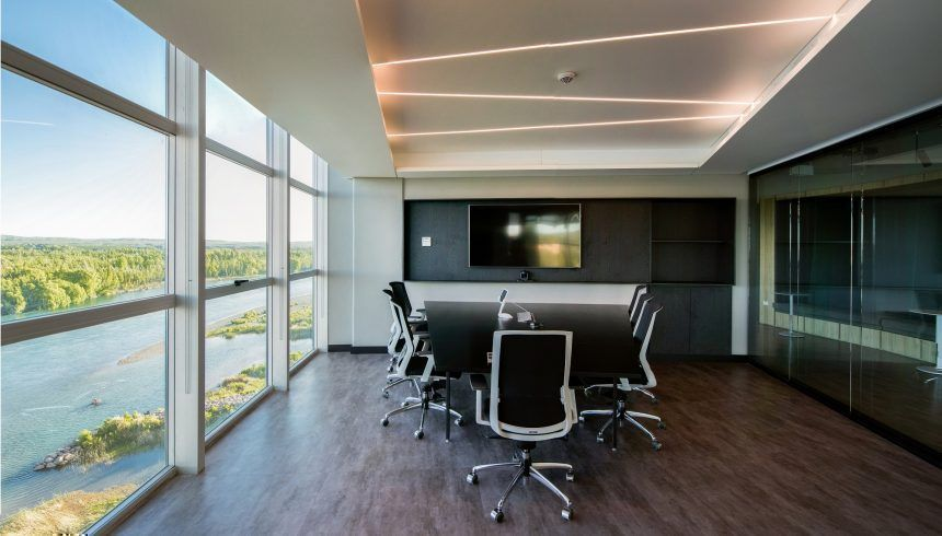 Vista de oficina: sala de reuniones