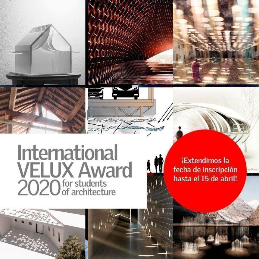 Extendidas las inscripciones para el International VELUX Award 2020
