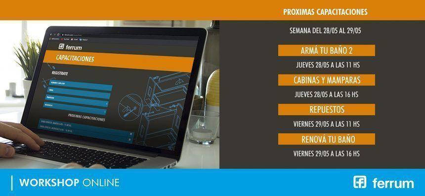 Próximos workshops online de Ferrum