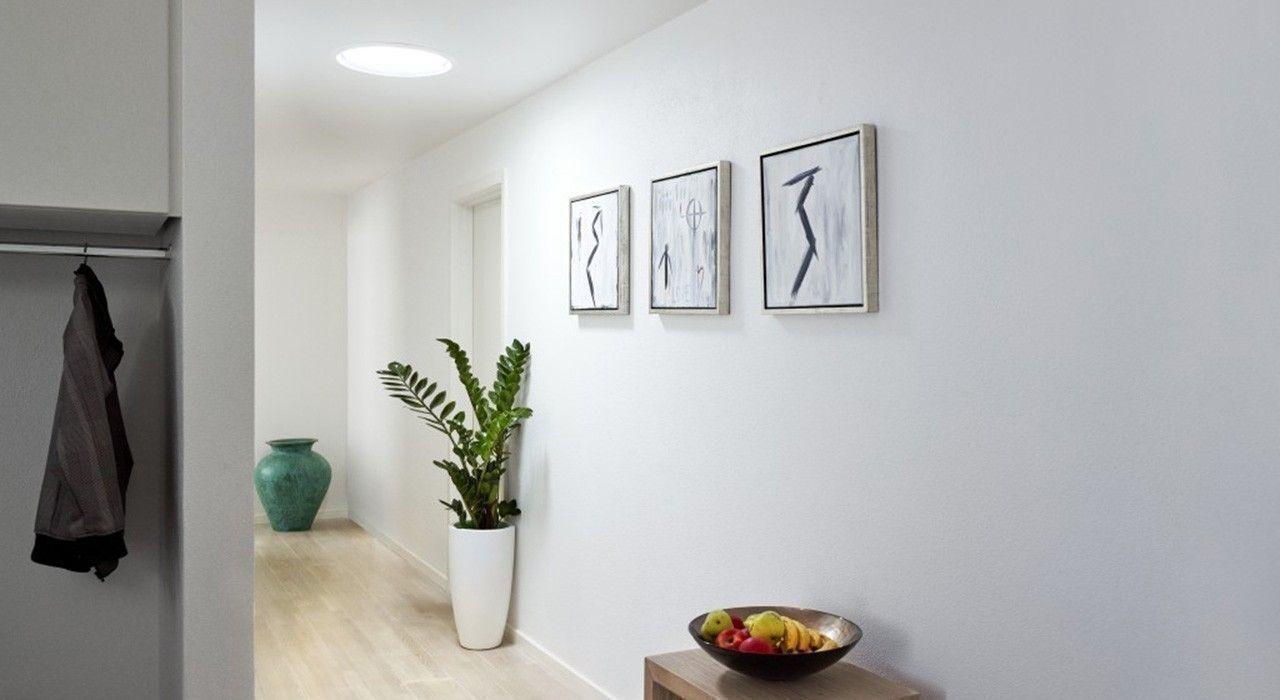 Iluminación con luz natural a pasillos