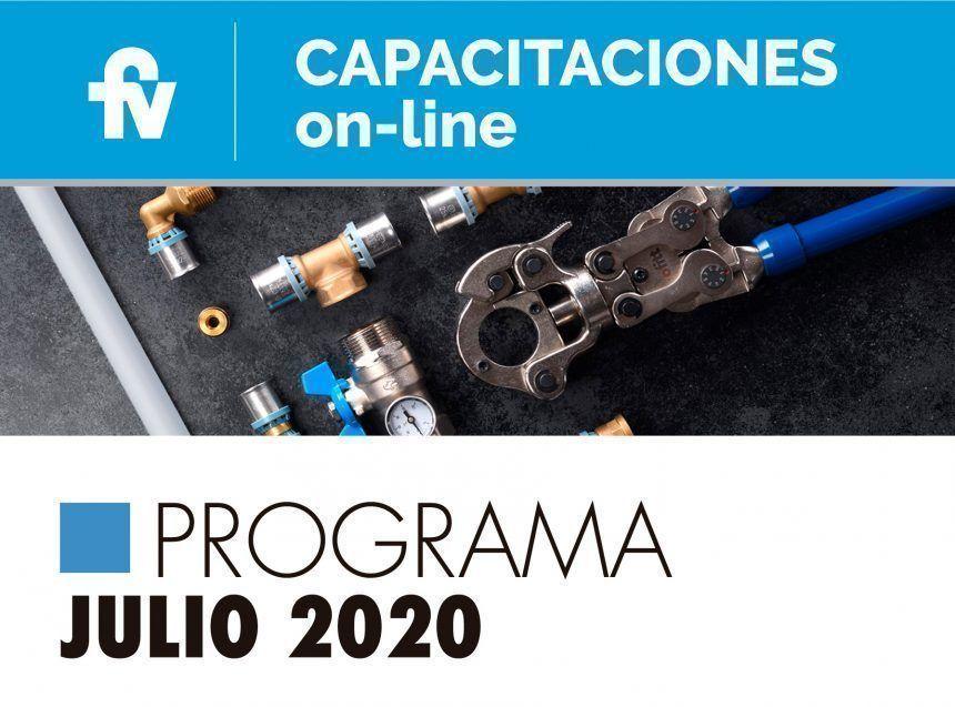 Programa de capacitaciones FV de julio