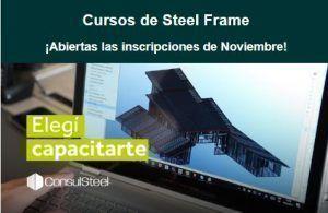 Cursos de Steel Frame en noviembre por Consul Steel
