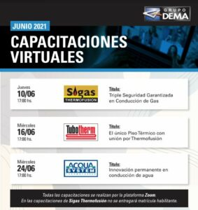 Capacitaciones virtuales de Grupo Dema en junio