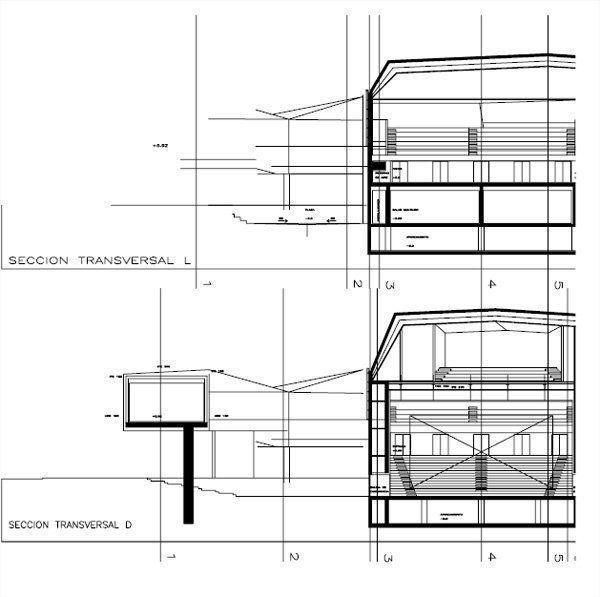 Sección transversal L y D