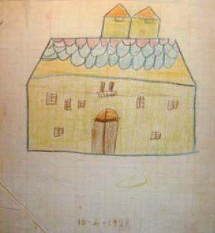 Clorindo Testa, su primer dibujo