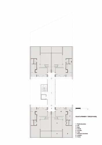 Primer y tercer piso