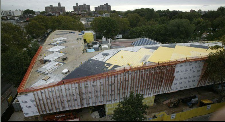 Aerial view of roof Tiling Bruce Cotler