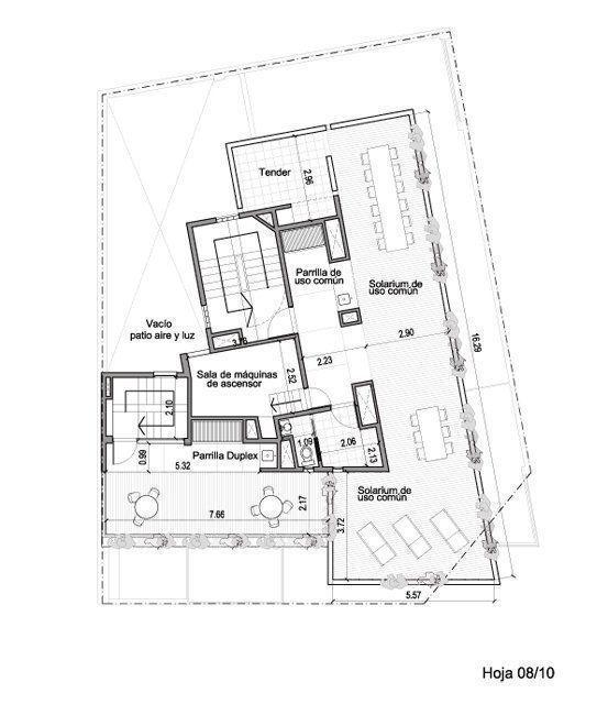 Planta septimo piso y terraza