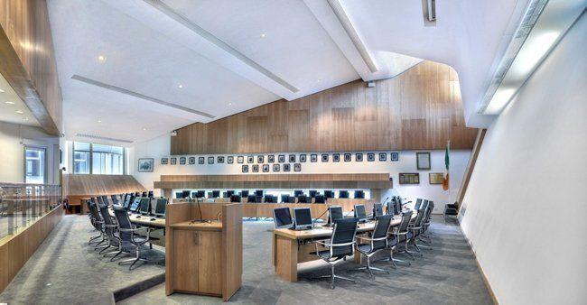 Interior, Oficinas cívicas para Clare County Council, Irlanda