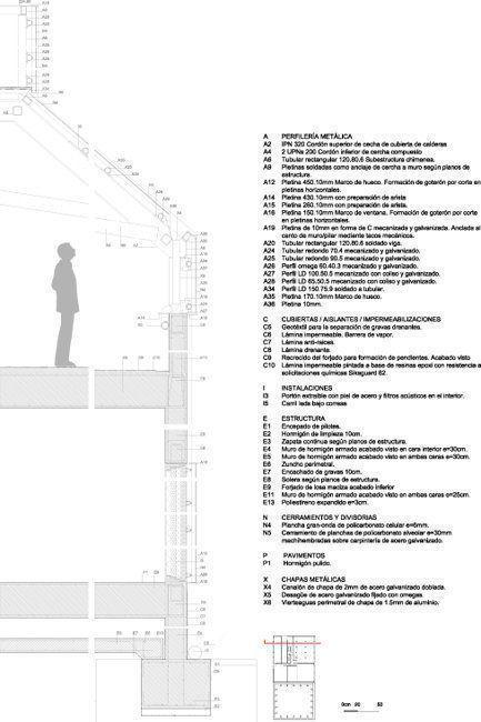 Sección constructiva, Central de Energía (D.H.C.)