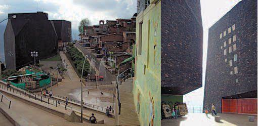 Parque Biblioteca España. Obra de Giancarlo Mazzanti, ha obtenido el primer premio de la VI Bienal Iberoamericana de Arquitectura