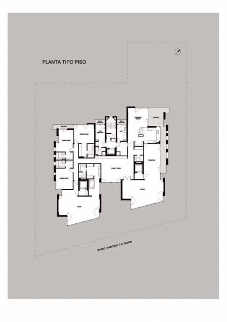 Planta tipo, piso 1