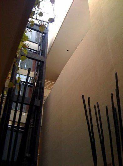 Patio interior / circulaciones verticales