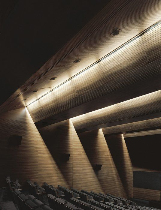 Detalle iluminación auditorio