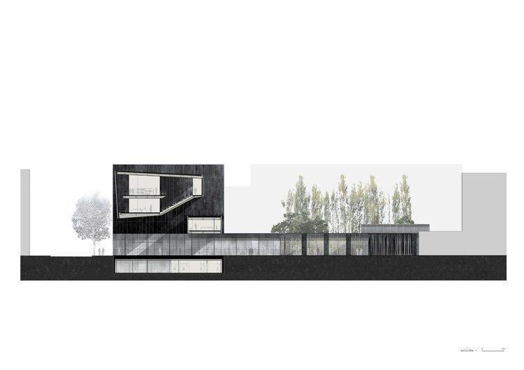 arqa biblioteca hogar de jubilados y espacio interior de manzana en barcelona