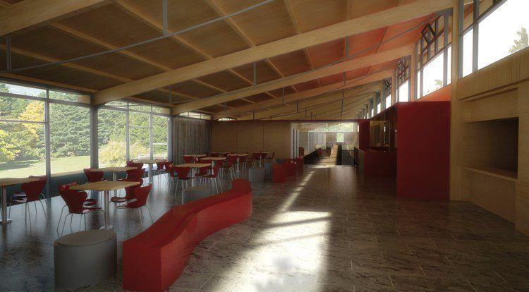 Sala de lectura y confitería