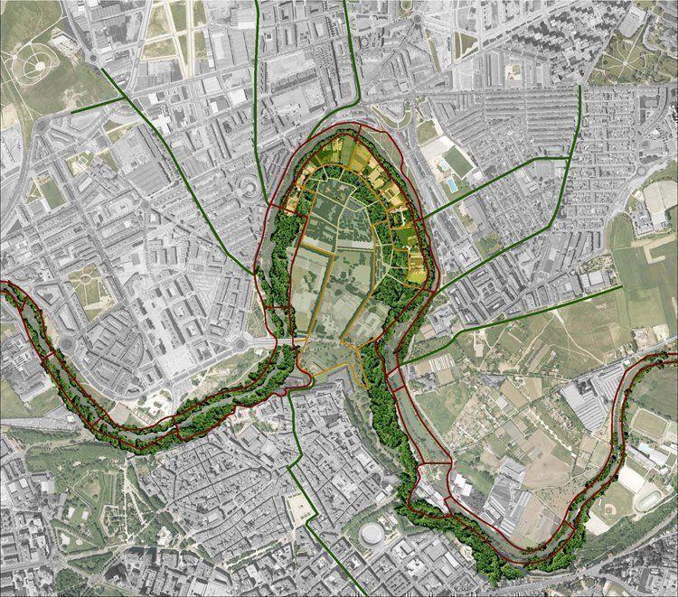 Inserción del parque en el corredor fluvial del arga y su entorno