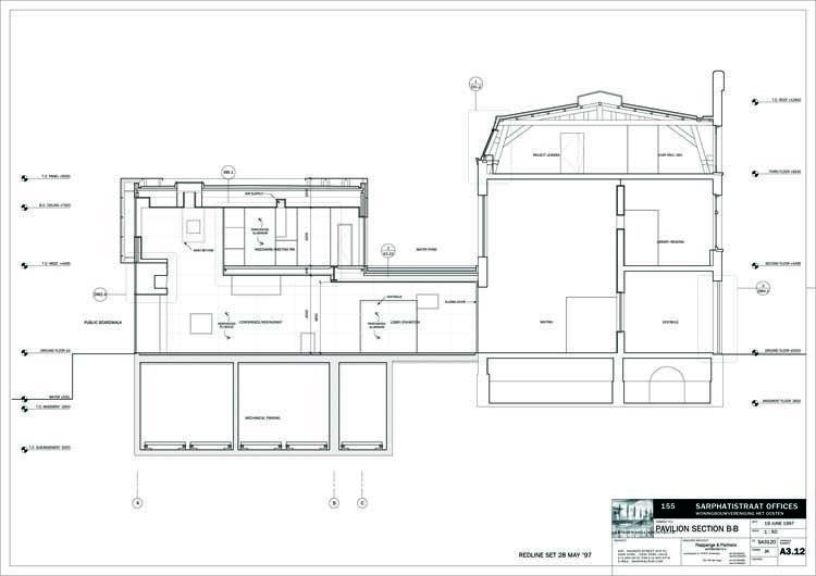 Pavilion section B-B