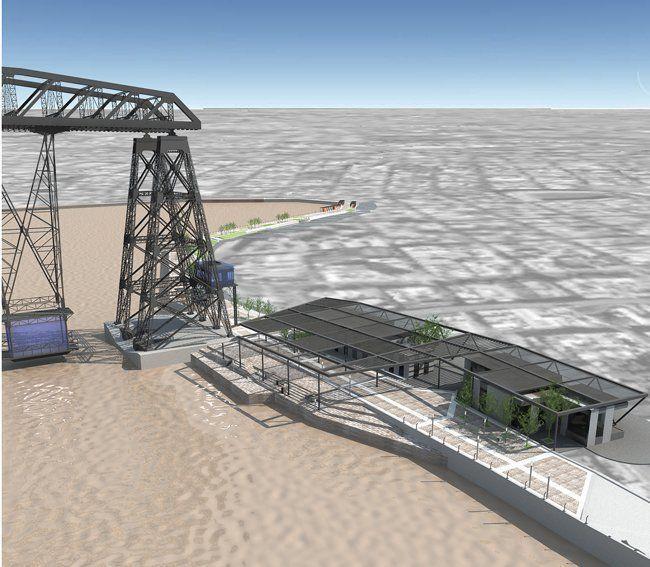 Aerea de puente transbordador y centro de interpretación