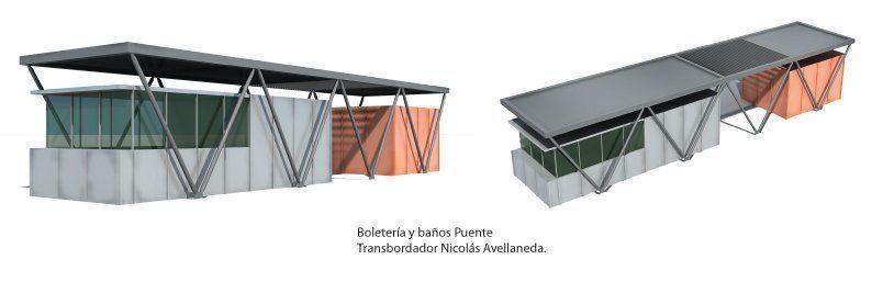 Boletería y baños puente transbordador Nicolás Avellaneda