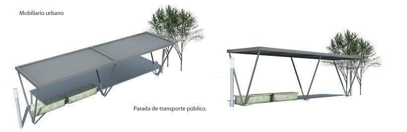 Parada transporte público