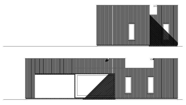 Elevation East & South