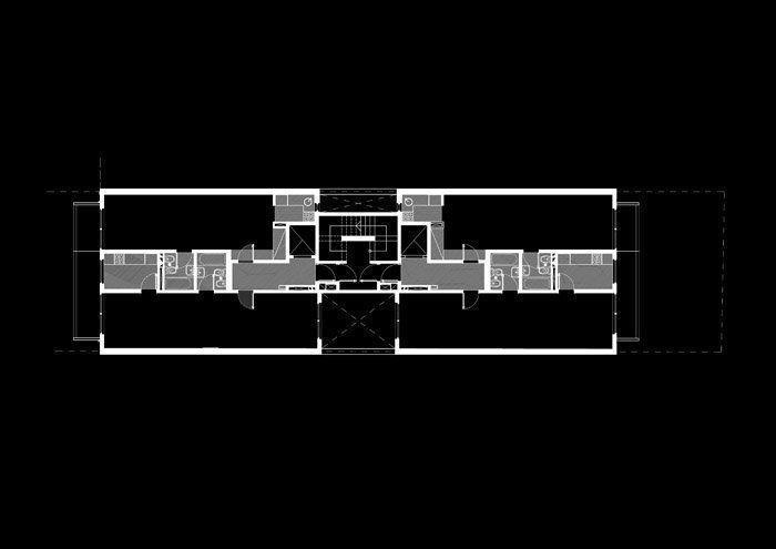 Planta 2do piso al 7mo piso