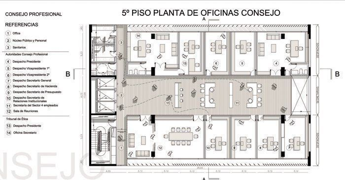 Planta quinto piso