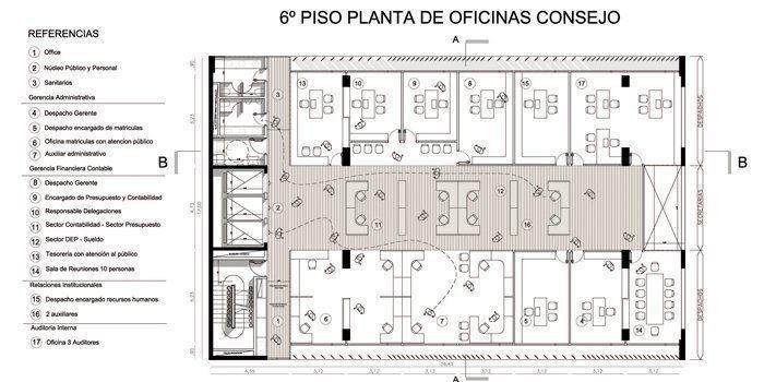 Planta sexto piso