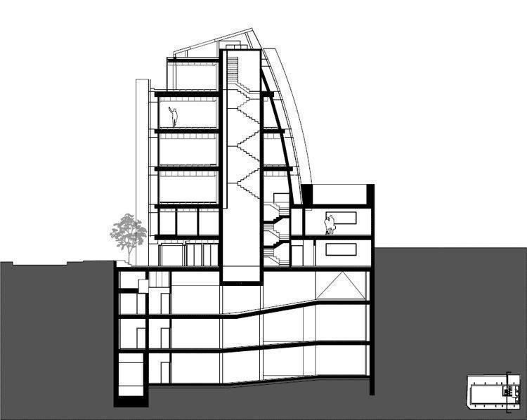 Sección transversal escalera