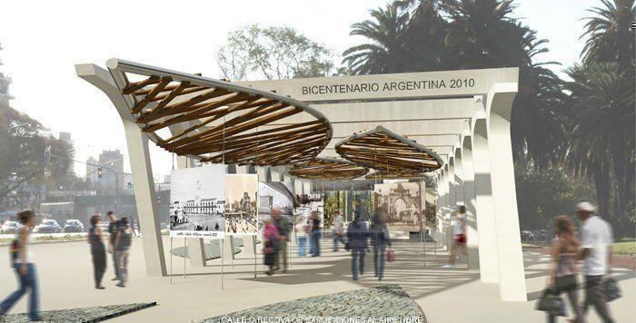 Pabell n argentino del bicentenario 2010 3er premio arqa for Pabellones arquitectura efimera