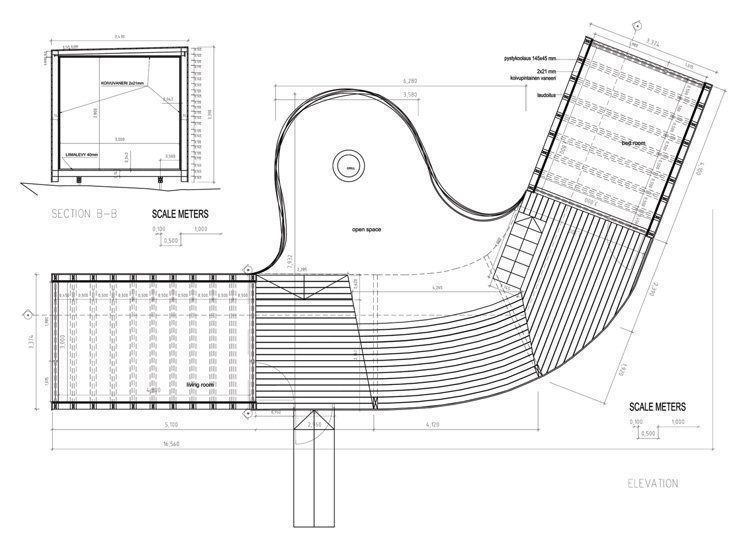 Elevation & B Section