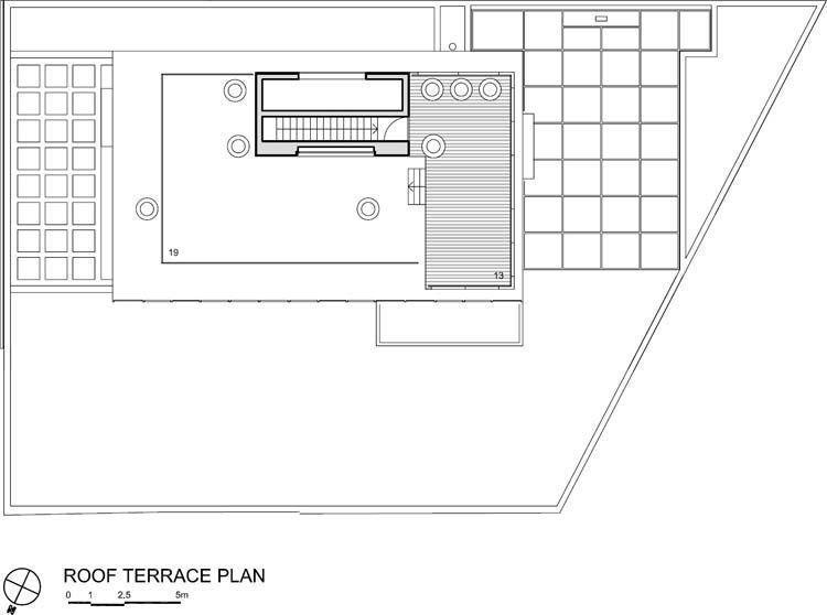 Roof terrace floor plan