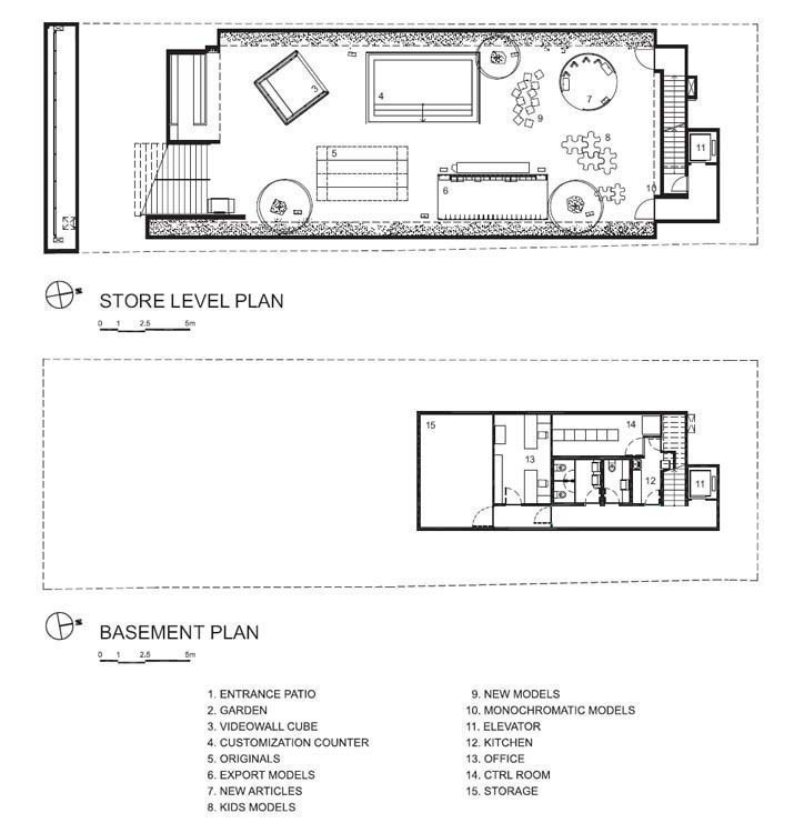 Store level plan & Basement plan