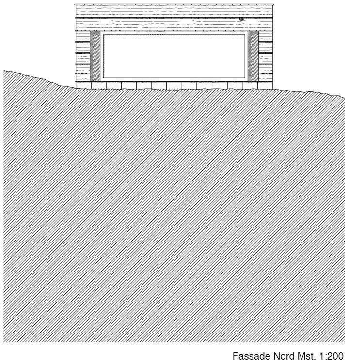 Elevation, North facade