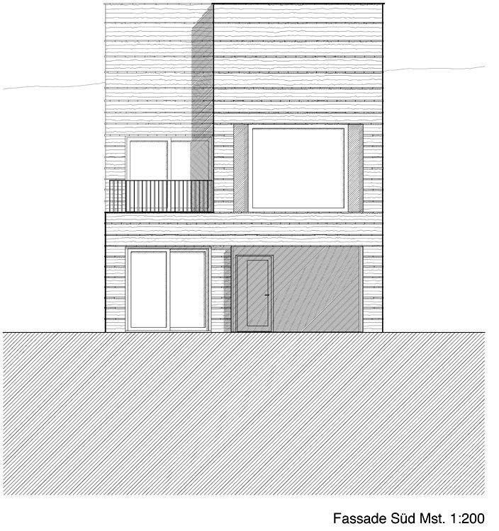 Elevation, South facade