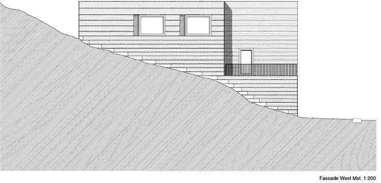 Elevation, West facade
