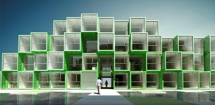 Crou 100 viviendas de estudiantes contenedores reciclados en le havre francia arqa - Contenedores vivienda ...