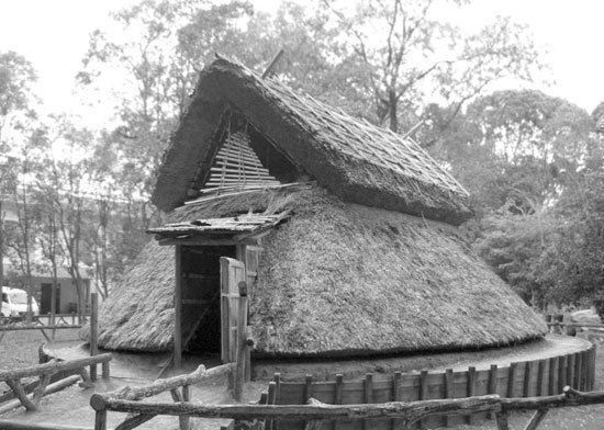 The house was based on Pit Dwellings