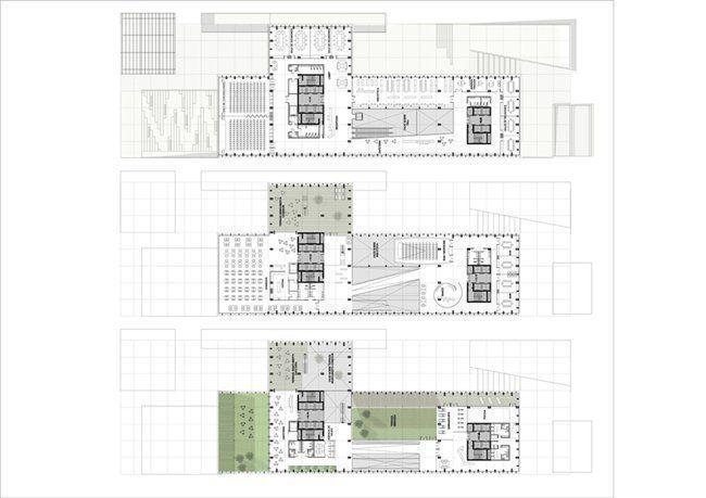 Proyecto para el concurso internacional de arquitectura for Plantas de arquitectura
