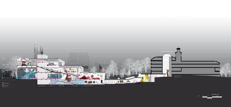 Perspective section - Image courtesy of the Office for Metropolitan Architecture (OMA)